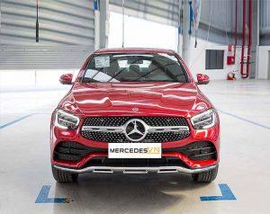 Mercedes GLC 300 4MATIC Coupe 2020 bản nâng cấp Đỏ