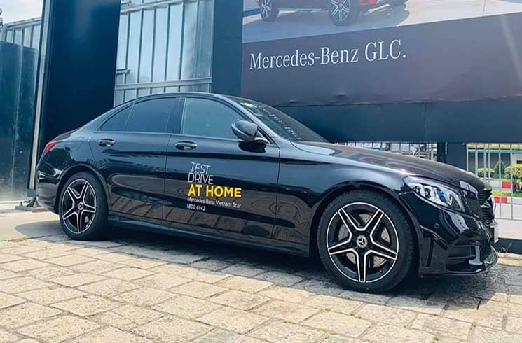 Lái thử xe Mercedes tại nhà